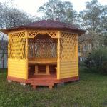 Восьмиугольная садовая беседка ЛИЛИЯ на 15-18 человек размером 3,6 и 4,0 метра по диагонали