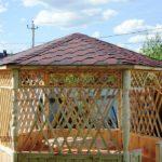 Шестигранная дачная деревянная беседка ТВЕРЬ 3,6 метра. Вместимость 17 человек.