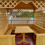 Деревянная квадратная беседка КЛАССИК. Вместимость 12-18 человек.