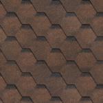 Мягкая черепица Шинглас коричневого цвета