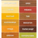 Цветовая палитра Акватекс
