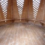 Восьмиугольная садовая беседка ТВЕРСКАЯ СКАЗКА на 18 человек размером 4,0 метра по диагонали