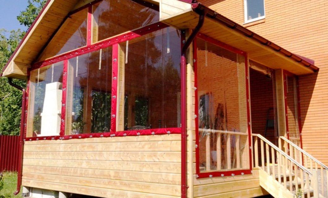 Мягкие окна и шторы из прозрачного ПВХ для беседок и веранд