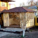 Прямоугольная садовая беседка Широта 3х4 метра. Вместимость 20 человек.
