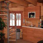 Восьмиугольный деревянный садовый домик ТВЕРСКОЙ ЭДЕМ. Площадь 40 м2.