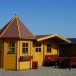 Садовый дачный деревянный домик ТАНДЕМ. Площадь 31 м2.