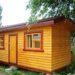 Хозяйственный домик №6 размером 6.0х3.0 метра. Площадь 18 м2.