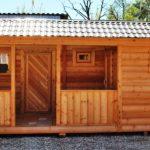 Хозблок для дачи деревянный №1 6х4 метра. Площадь 24 м2.