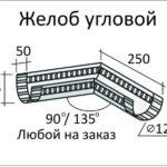 Угол желоба 90, 135 градусов для водосточной системы СТАНДАРТ