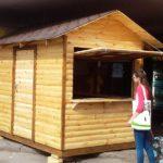 Ярмарочный домик из дерева ВАРИАНТ №1 3.0х2.0 метра. Площадь 6 м2.