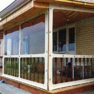 Мягки окна из ПВХ для беседок и веранд