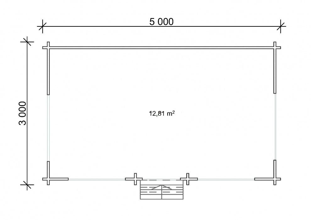 Беседка Тверь МБ 3х5 метра